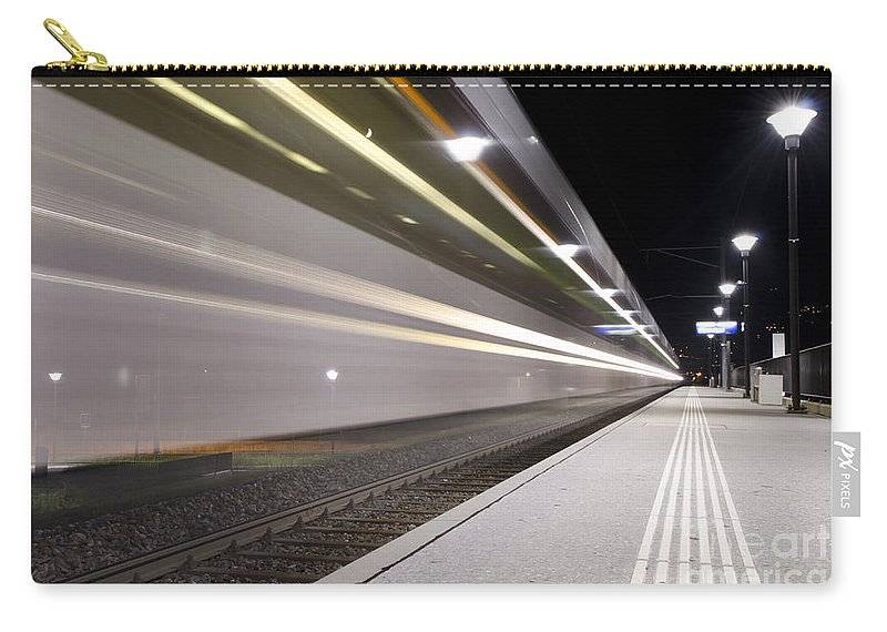 Train Station Carry-all Pouch featuring the photograph Train by Mats Silvan