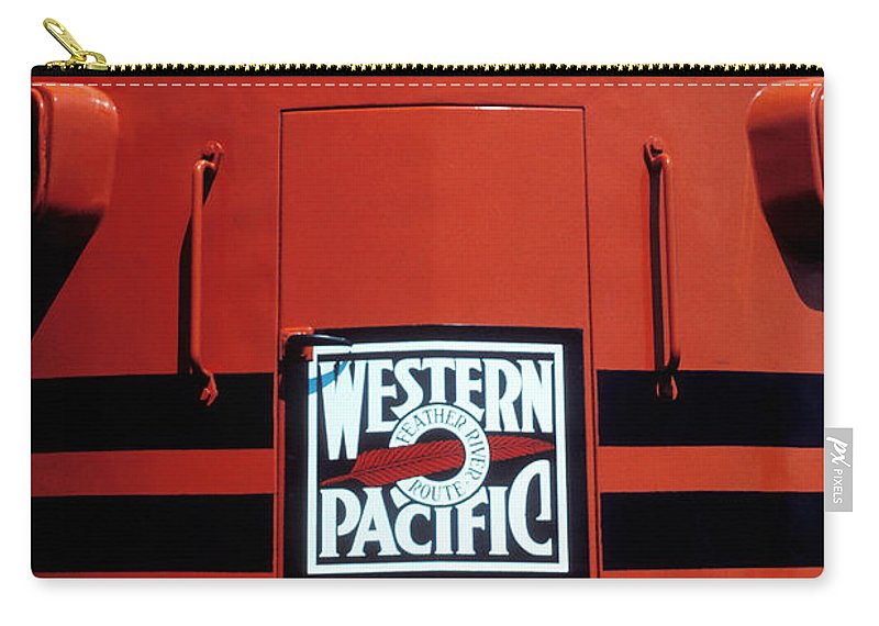 Train Carry-all Pouch featuring the photograph Train Western Pacific by Garry Gay