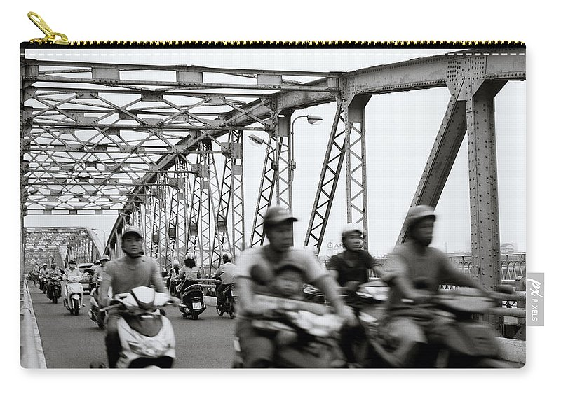 Asia Carry-all Pouch featuring the photograph Trang Tien Bridge Hue by Shaun Higson