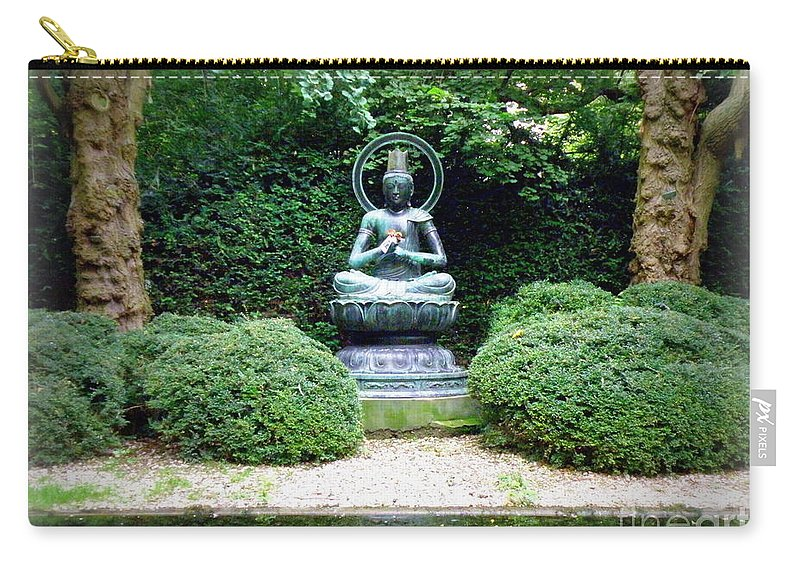 Buddha Carry-all Pouch featuring the photograph Tranquil Buddha by Lainie Wrightson
