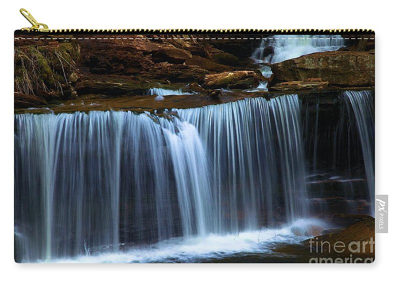 Waterfall Carry-all Pouch featuring the photograph Tranquility by Adam Jewell