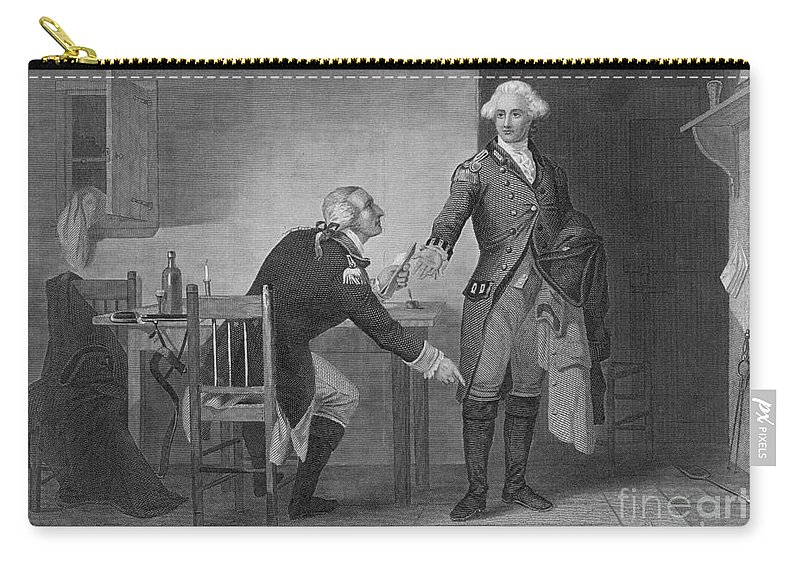 History Carry-all Pouch featuring the photograph Treason Of Benedict Arnold, 1780 by Photo Researchers