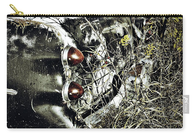 Street Photographer Framed Prints Carry-all Pouch featuring the photograph Trees And Trunk by The Artist Project