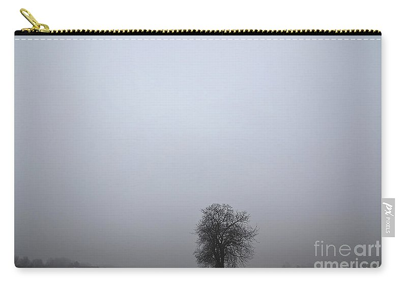 Trees Carry-all Pouch featuring the photograph Trees On The Road by Mats Silvan