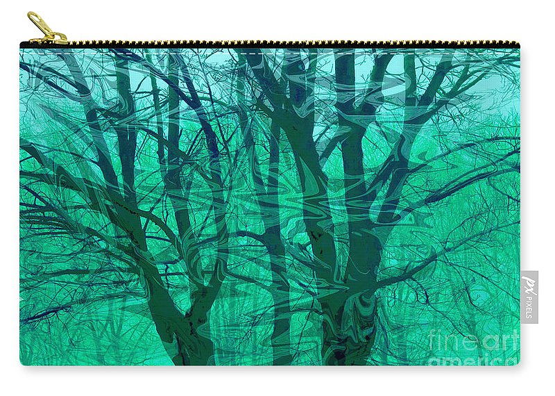 Digital Art Carry-all Pouch featuring the photograph Trees by Sheila Laurens
