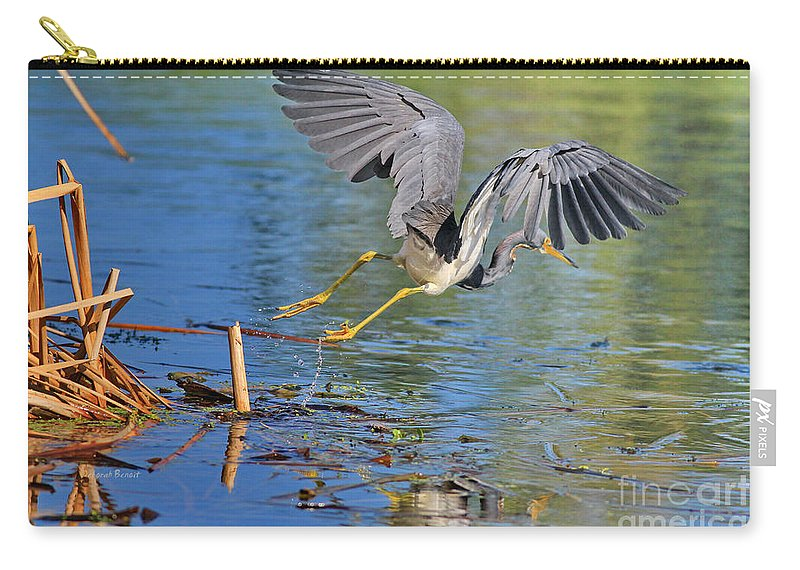 Wildlife Carry-all Pouch featuring the photograph Tri On The Hunt by Deborah Benoit