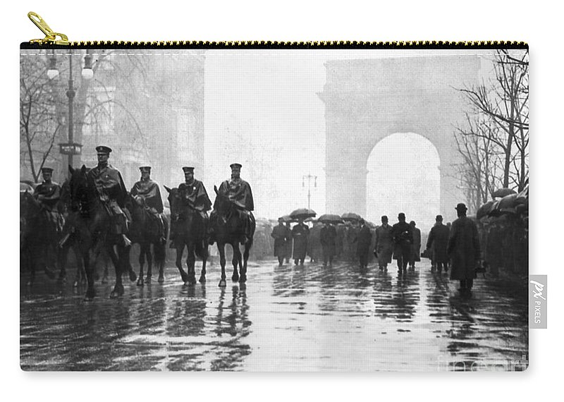 1911 Carry-all Pouch featuring the photograph Triangle Fire Memorial, 1911 by Granger