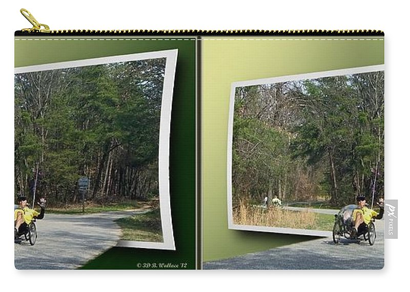 Brian Wallace Carry-all Pouch featuring the photograph Trike Wave - Gently Cross Your Eyes And Focus On The Middle Image by Brian Wallace