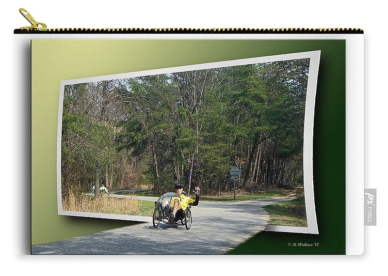Brian Wallace Carry-all Pouch featuring the photograph Trike Wave by Brian Wallace