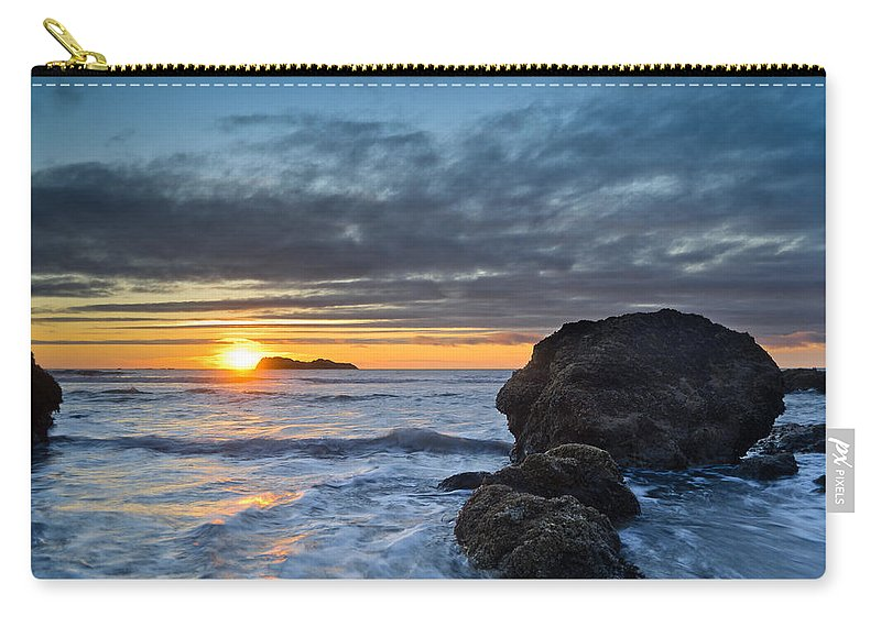 Sunset Carry-all Pouch featuring the photograph Trinidad Sunset In Autumn by Greg Nyquist