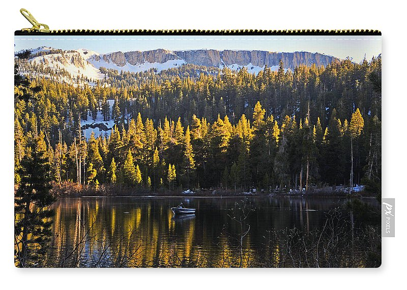 Trolling Carry-all Pouch featuring the photograph Trolling On Twin Lakes by Lynn Bauer