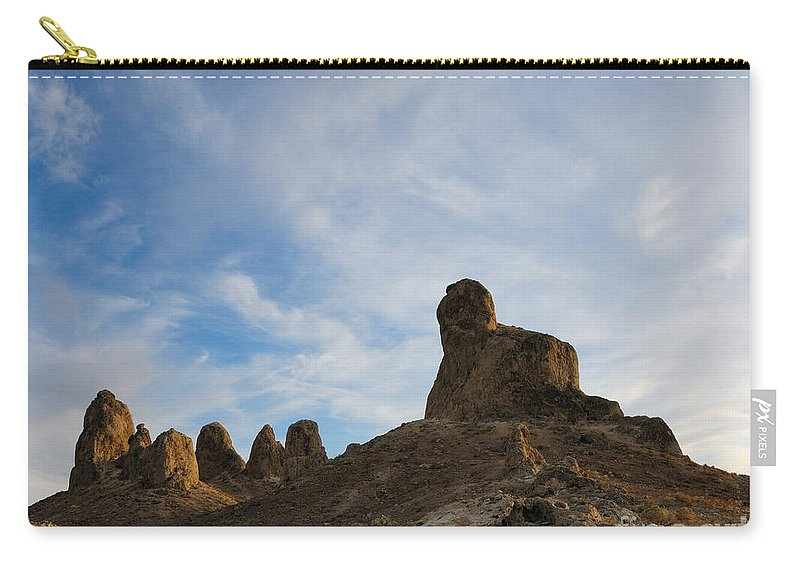 Trona Pinnacles Carry-all Pouch featuring the photograph Trona Pinnacles 2 by Vivian Christopher
