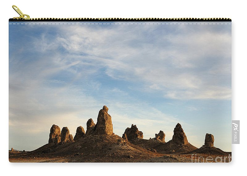 Trona Pinnacles Carry-all Pouch featuring the photograph Trona Pinnacles 3 by Vivian Christopher