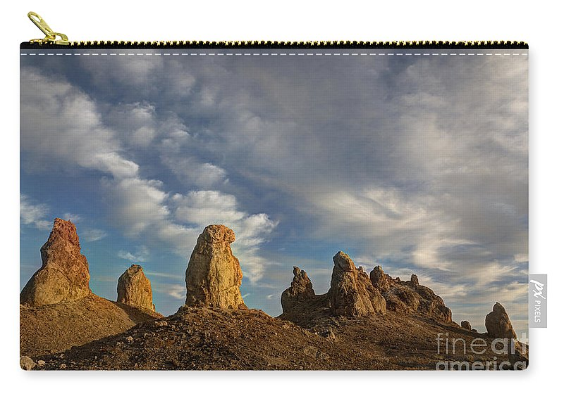 Trona Pinnacles Carry-all Pouch featuring the photograph Trona Pinnacles 4 by Vivian Christopher