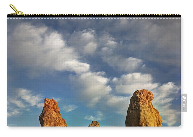Trona Pinnacles Carry-all Pouch featuring the photograph Trona Pinnacles 5 by Vivian Christopher