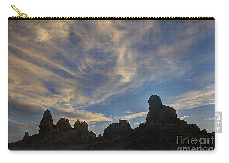 Trona Pinnacles Carry-all Pouch featuring the photograph Trona Pinnacles 6 by Vivian Christopher
