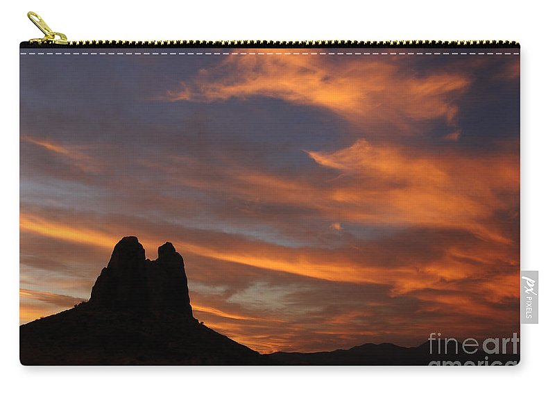 Trona Pinnacles Carry-all Pouch featuring the photograph Trona Pinnacles 7 by Vivian Christopher