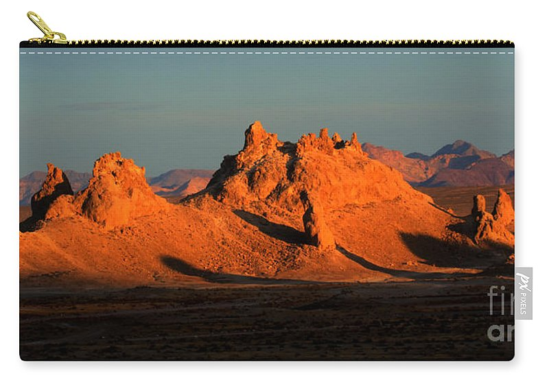 Trona Carry-all Pouch featuring the photograph Trona Pinnacles Panorama by Bob Christopher