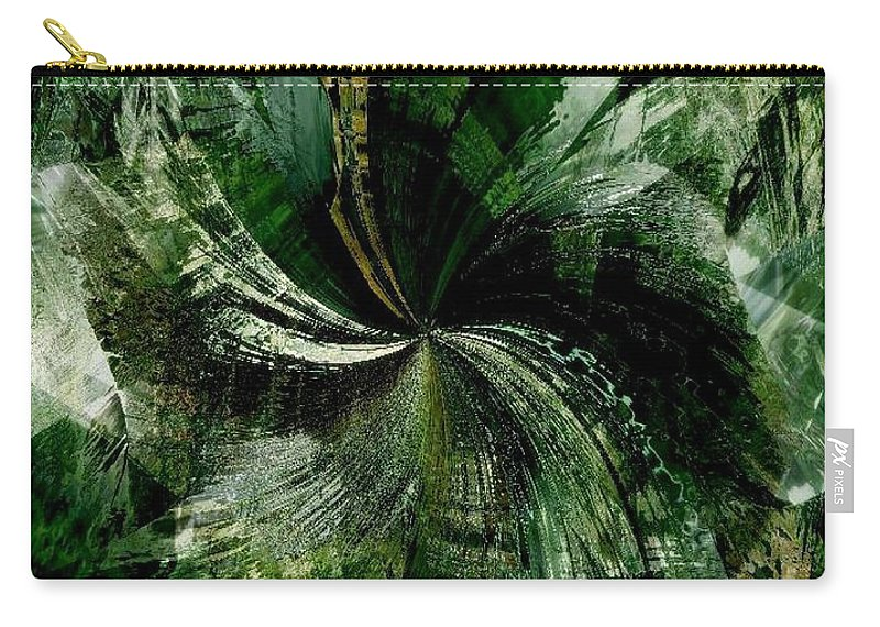 Tropical Carry-all Pouch featuring the digital art Tropical Rain Forest by Maria Urso