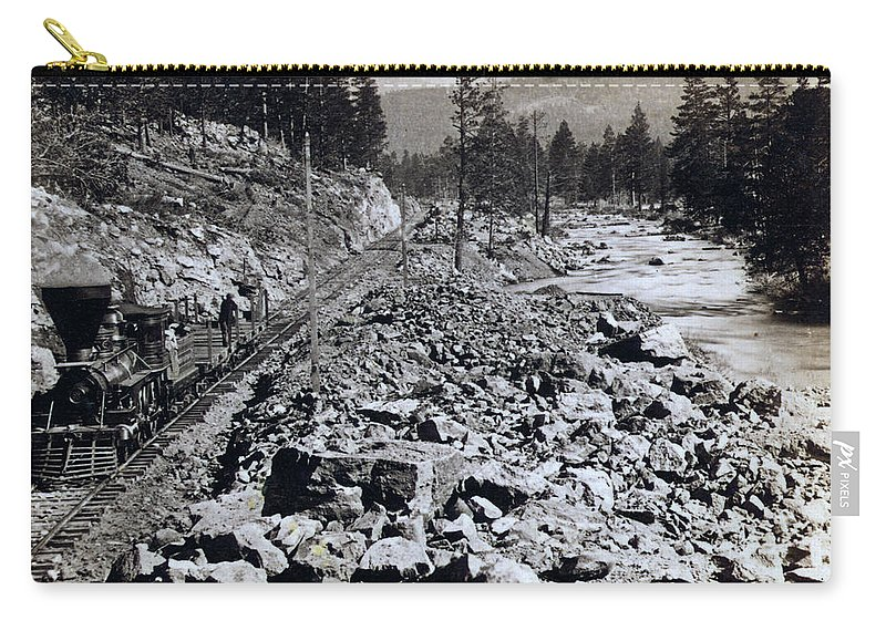 Truckee Carry-all Pouch featuring the photograph Truckee River - California - C 1865 by International Images