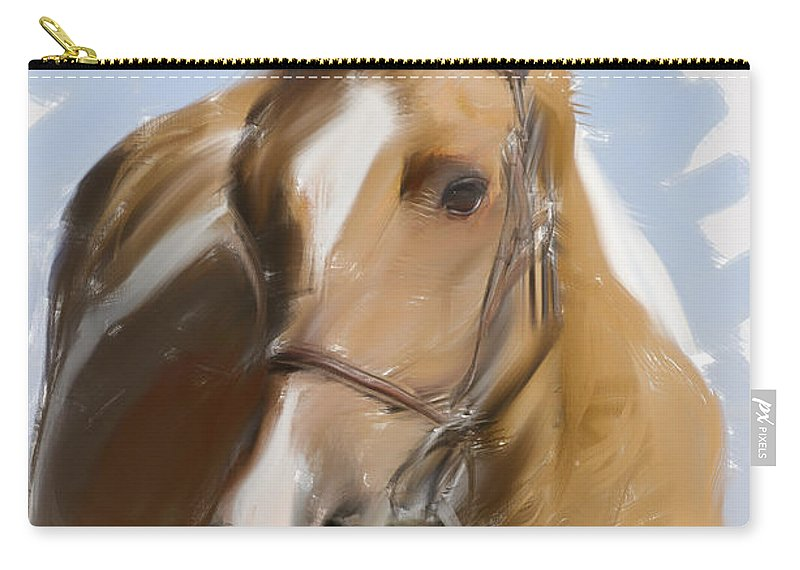 Horse Carry-all Pouch featuring the photograph Trusted Steed by Jim And Emily Bush