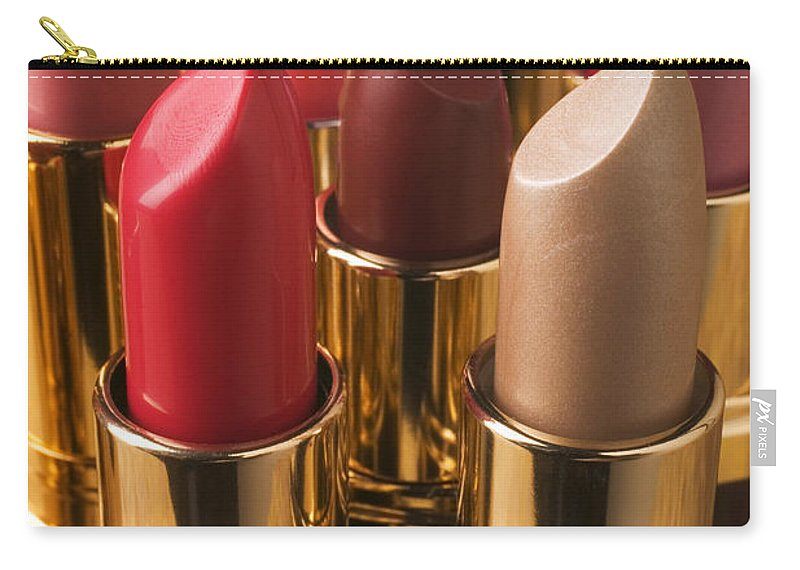 Lipstick Carry-all Pouch featuring the photograph Tubes Of Lipstick by Garry Gay