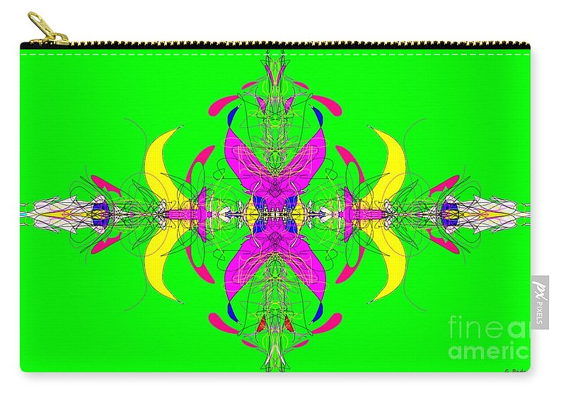 Fractal Carry-all Pouch featuring the digital art Tug Of War by George Pedro