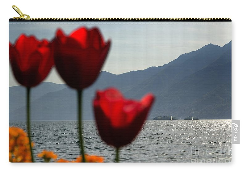 Islands Carry-all Pouch featuring the photograph Tulip And Lake by Mats Silvan