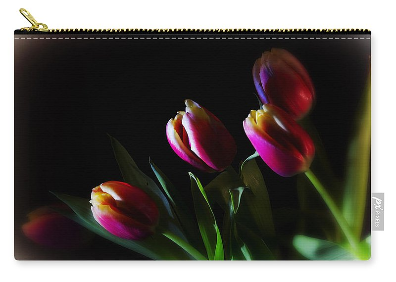 Flower Carry-all Pouch featuring the photograph Tulip Dream by Linda Tiepelman