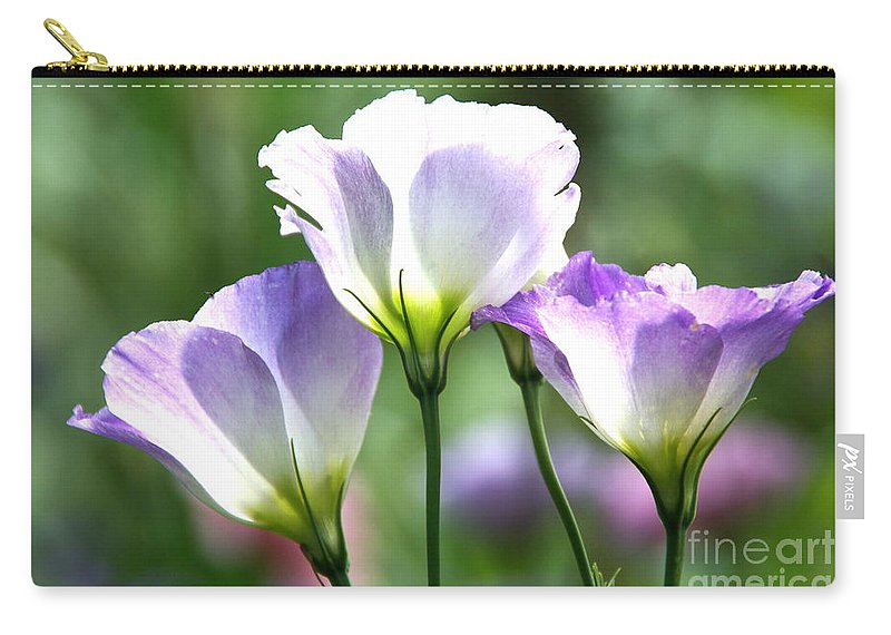 Tulip Gentian Carry-all Pouch featuring the photograph Tulip Gentian Flowers by Byron Varvarigos