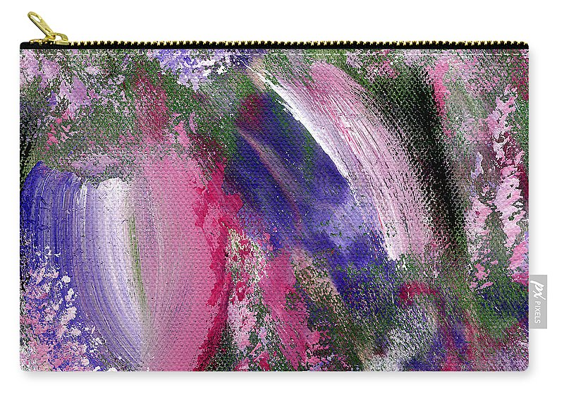 Abstract Carry-all Pouch featuring the painting Tulip Infatuation by Kim Niles
