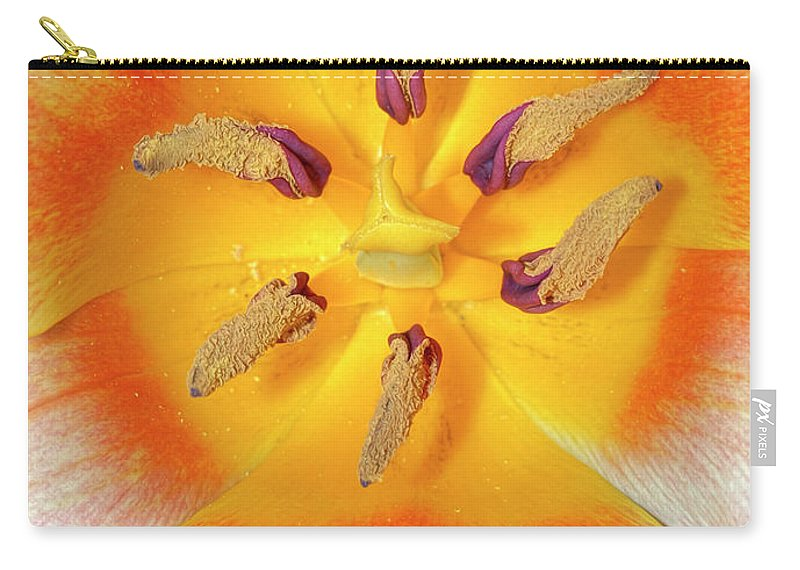 Tulip Carry-all Pouch featuring the photograph Tulip Interior by Dave Mills