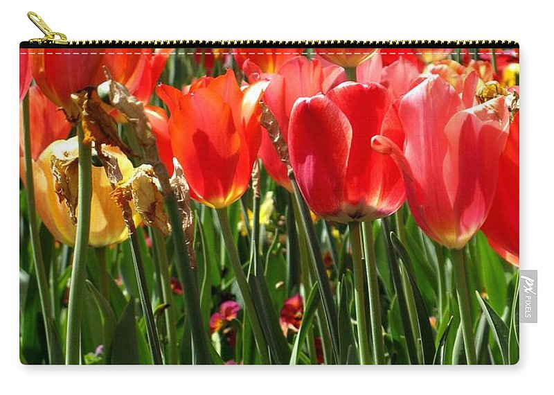 Texas Carry-all Pouch featuring the photograph Tulip Uprising by Ashley M Conger