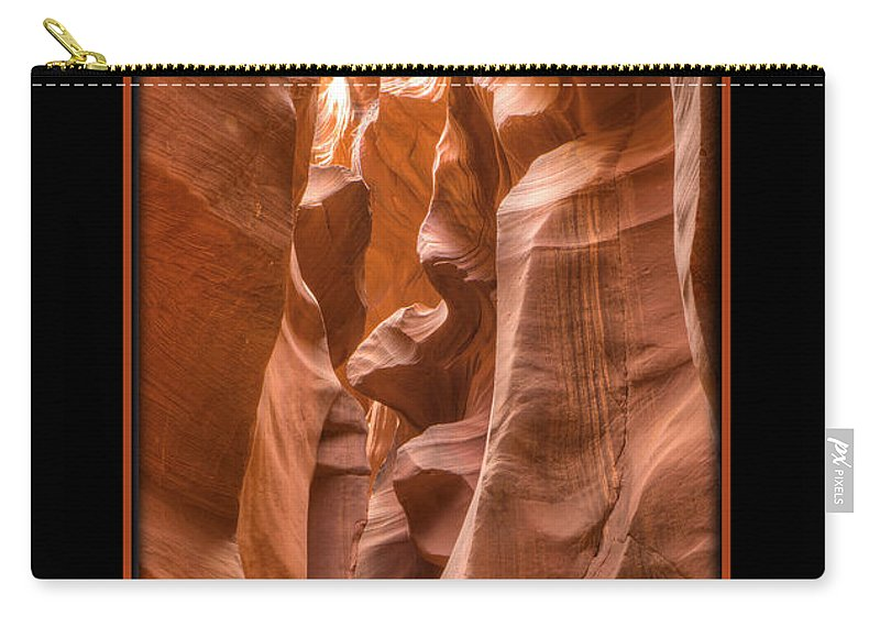 Antelope Canyon Carry-all Pouch featuring the photograph Tunnel by Larry White