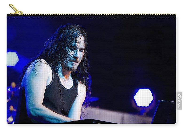 Tuomas Holopainen Carry-all Pouch featuring the photograph Tuomas Holopainen - Nightwish by Saija Lehtonen