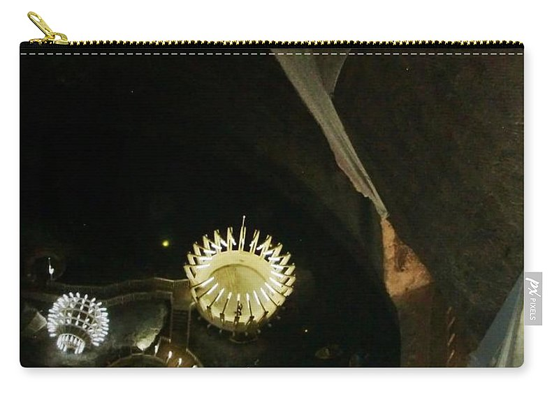Salt Mine Carry-all Pouch featuring the photograph Turda Salt Mine by Amalia Suruceanu