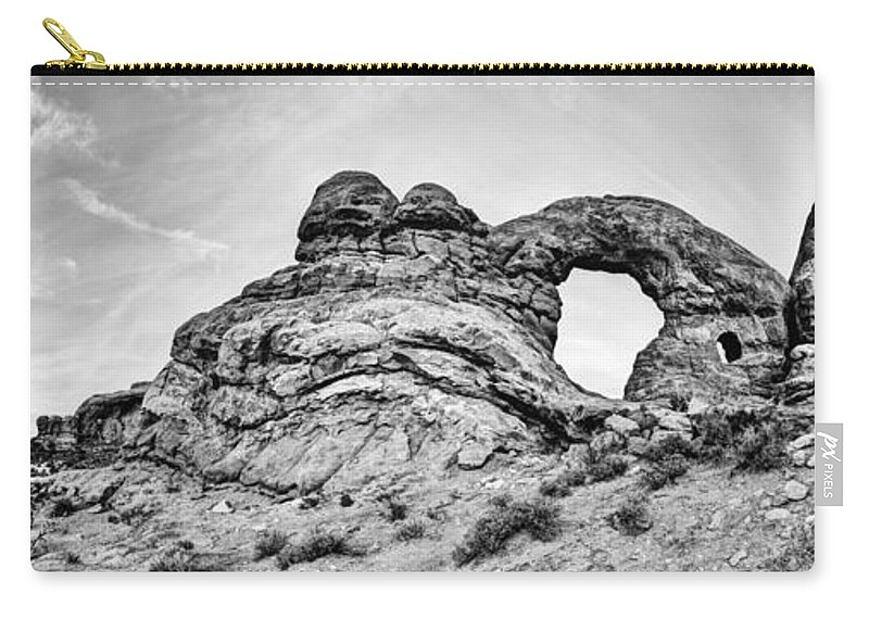 Outdoor Carry-all Pouch featuring the photograph Turret Pano by Chad Dutson