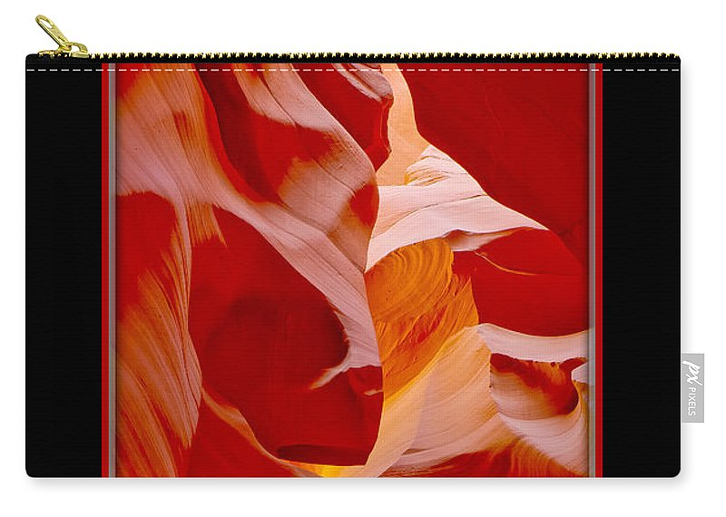 Antelope Canyon Carry-all Pouch featuring the photograph Turtle Face by Larry White