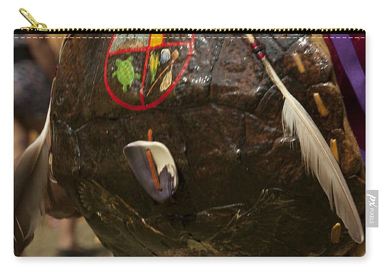 Photography Carry-all Pouch featuring the photograph Turtle Shield by Steven Natanson