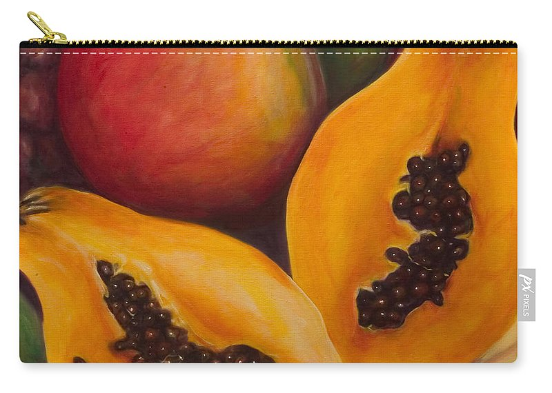 Twins Carry-all Pouch featuring the painting Twins Crop by Shannon Grissom