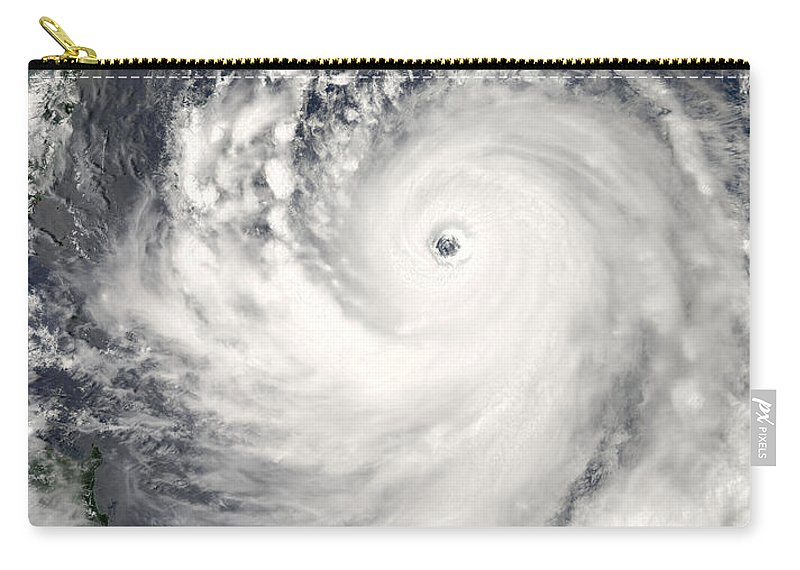 Science Carry-all Pouch featuring the photograph Typhoon Man-yi by Nasa