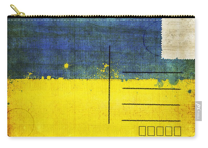 Address Carry-all Pouch featuring the photograph Ukraine Flag Postcard by Setsiri Silapasuwanchai