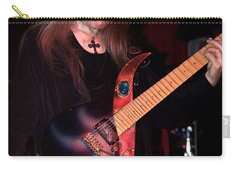 Uli Jon Roth Carry-all Pouch featuring the photograph Uli Jon Roth And His Sky Guitar by Ben Upham