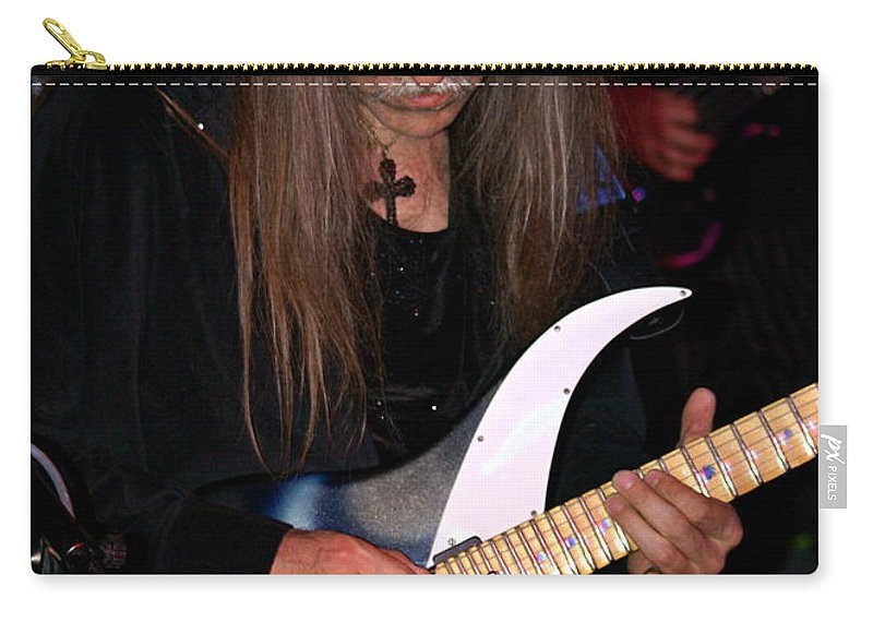 Uli Jon Roth Carry-all Pouch featuring the photograph Uli Jon Roth At The Grail 2008 by Ben Upham