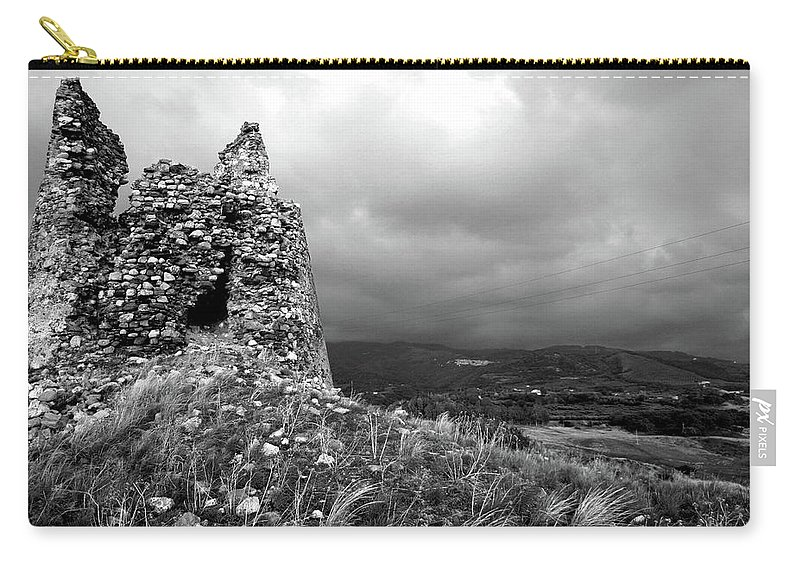 Tower Carry-all Pouch featuring the photograph Un Torre Di Calabria by La Dolce Vita