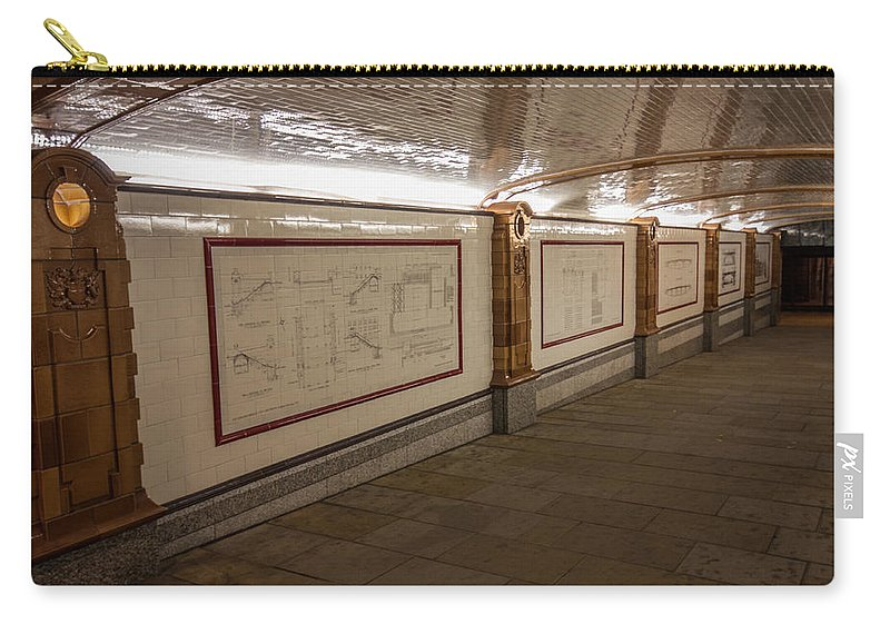 Southwark Bridge Carry-all Pouch featuring the photograph Under Southwark Bridge by Dawn OConnor