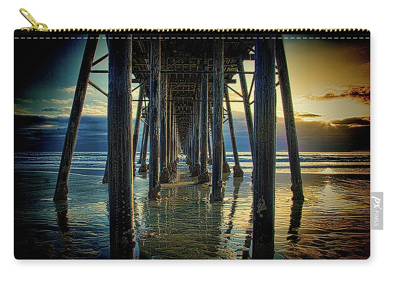 Sunset Carry-all Pouch featuring the photograph Under The Boardwalk by Chris Lord