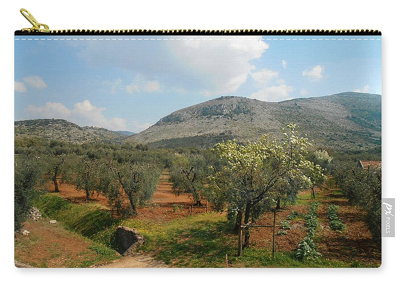 Under The Tuscan Skies Carry-all Pouch featuring the photograph Under The Tuscan Skies by Bill Cannon