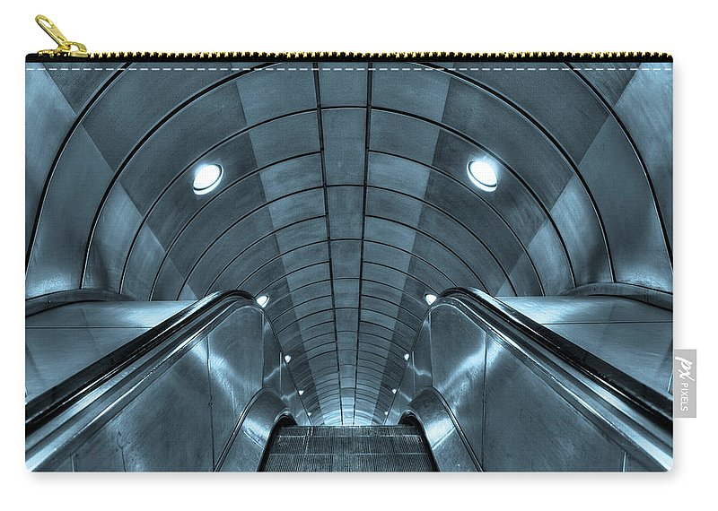 Architecture Carry-all Pouch featuring the photograph Underground 10 by Svetlana Sewell