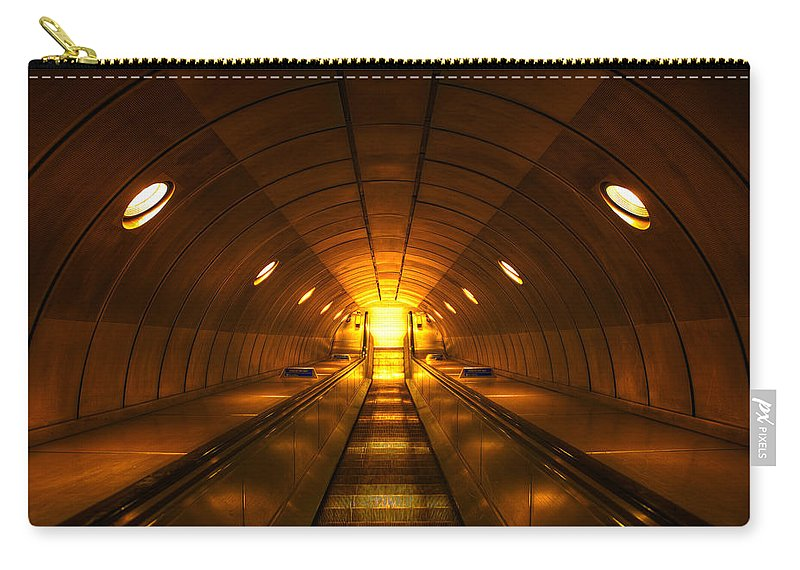 Architecture Carry-all Pouch featuring the photograph Underground 11 by Svetlana Sewell